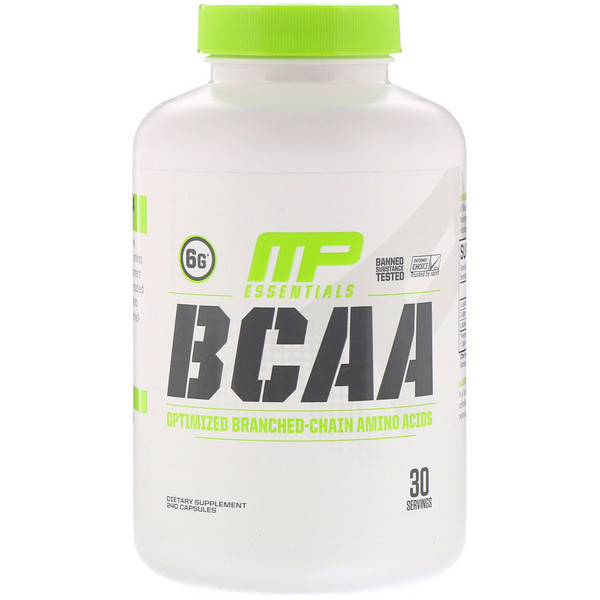 MusclePharm, BCAA Essentials, 240 Capsules