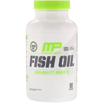 Купить MusclePharm Essentials, рыбий жир, 90 гелевых капсул