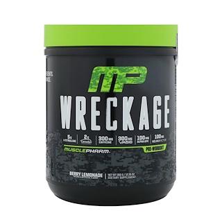 MusclePharm, Pré-entraînement Wreckage, Limonade aux fruits rouges, 350 g (12,35 oz)