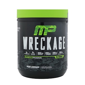 Мусклефарм, Wreckage, Pre-Workout, Berry Lemonade, 12.35 oz (350 g) отзывы покупателей