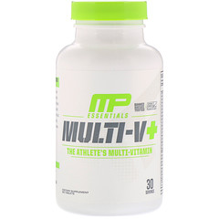 MusclePharm, Essentials, Multi-V+, The Athlete's Multi-Vitamin, 60 Tablets