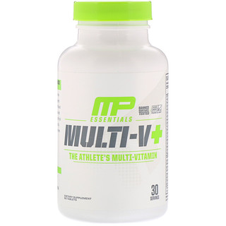MusclePharm, Essentials, Multi-V+, The Athlete's Multi-Vitamin, 60 Tablets