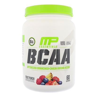 MusclePharm Essentials, аминокислоты с разветвленной цепью (BCAA), фруктовый пунш, 516г (1,14фунта)
