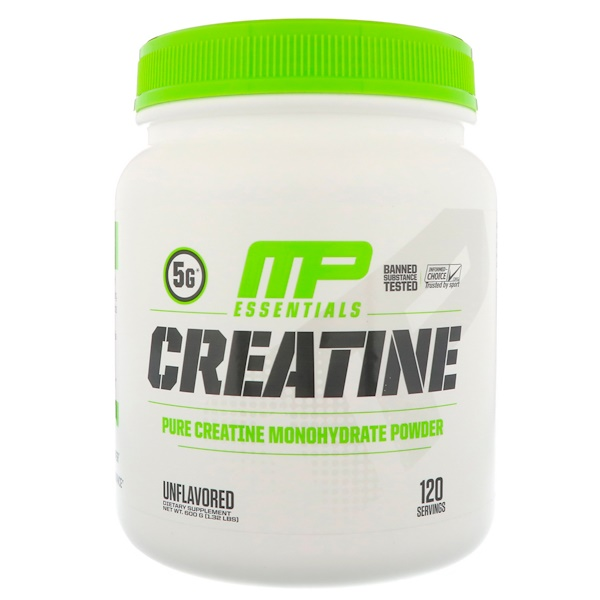 MusclePharm, Creatine Essentials, Unflavored, 1.32 lbs (600 g) (Discontinued Item)