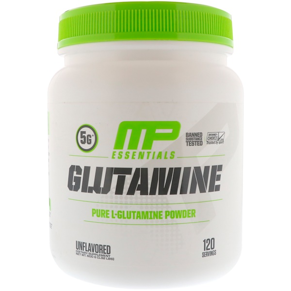 MusclePharm, Glutamine Essentials, Geschmacksneutral, 1,32 lbs (600 g)