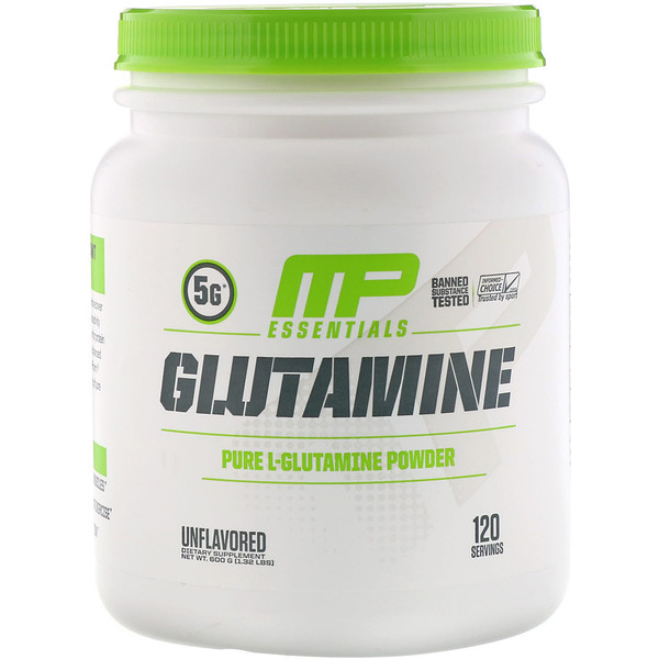 MusclePharm, Essentials, Glutamine, Unflavored, 1.32 lbs (600 g)