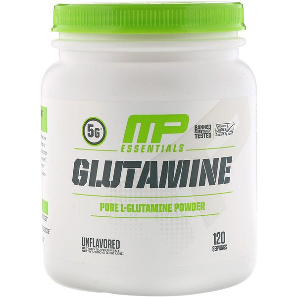 MusclePharm, Glutamine Essentials, Unflavored, 1.32 lbs (600 g)