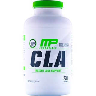 MusclePharm, Essentials, CLA, 1000 mg, 270 Softgels