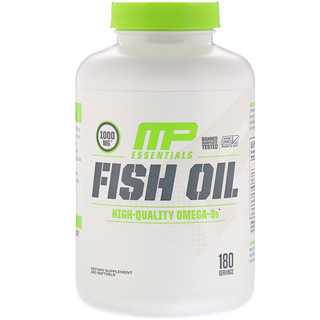 MusclePharm, Essentials, Óleo de Peixe, 180 Cápsulas Softgel