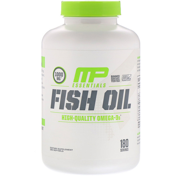 MusclePharm, Essentials, Fish Oil, 180 Softgels (Discontinued Item)