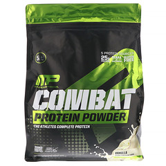 MusclePharm, Combat Protein Powder, Vanilla, 5 lb (2268 g)