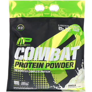 MusclePharm, Combat Protein Powder, Vanilla, 8 lbs (3629 g)