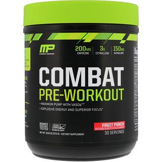 MusclePharm, Combat Pre-Workout, Fruit Punch, 9.63 oz (273 g)