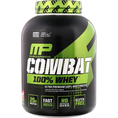MusclePharm Combat 100% сывороточный протеин, клубника, 80 унции (2269 г)