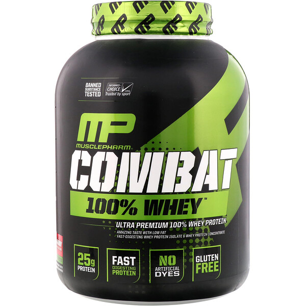 Combat 100% Whey Protein, Strawberry, 5 lbs (2269 g)