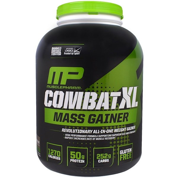 MusclePharm, Combat XL Mass Gainer, Chocolate, 6 lbs (2722 g)