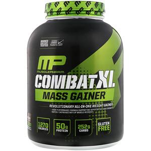 Мусклефарм, Combat XL Mass Gainer, Chocolate, 6 lbs (2722 g) отзывы