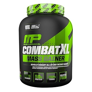 MusclePharm, Combat XL Mass Gainer,  Vanilla, 96 oz (2722 g)