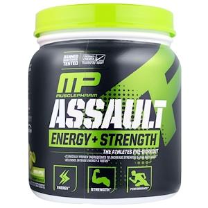 Мусклефарм, Assault, Energy + Strength, Pre-Workout, Green Apple, 0.73 lbs (333 g) отзывы покупателей
