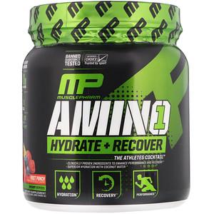 Мусклефарм, Amino1, Hydrate + Recover, Fruit Punch, 15 oz (426 g) отзывы покупателей