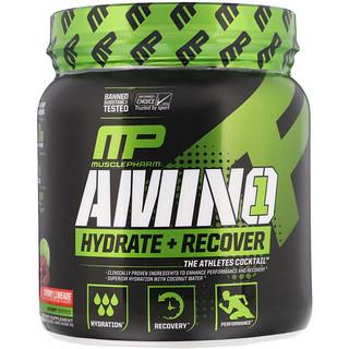 MusclePharm, アミノ1、水和物+リカバリー、チェリーライメイド、15.24 oz (432 g)