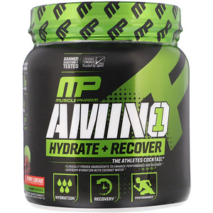 Мусклефарм, Amino1, Hydrate + Recover, Cherry Limeade, 15.24 oz (432 g) отзывы
