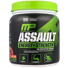 MusclePharm, Натиск энергии + сила, предтренировка, Фруктовый пунш, 12,17 унции (345 г)