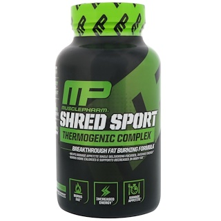 MusclePharm, Shred Sport, термогенный комплекс, 60 капсул
