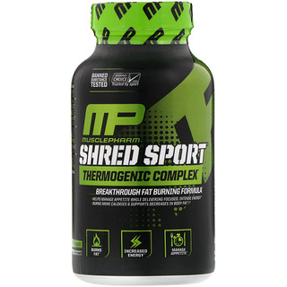 MusclePharm, Shred Sport,發熱瘦身膠囊,60粒
