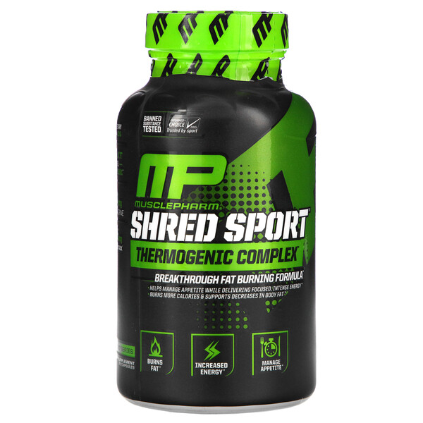MusclePharm, Shred Sport, Thermogenic Complex, 60 Capsules (Discontinued Item)
