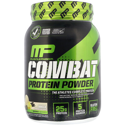 Фото - Combat Protein Powder, белковый порошок со вкусом ванили, 907 г (2 фунта) n o xplode legendary pre workout со вкусом фруктового пунша 555 г 1 22 фунта