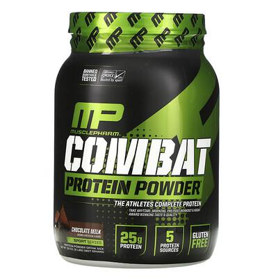 MusclePharm Combat белок в форме порошка, шоколадное молоко, 32 унции (907 г)