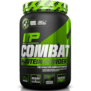 MusclePharm, Combat, Protein Powder, Chocolate Milk, 32 oz (907 g)