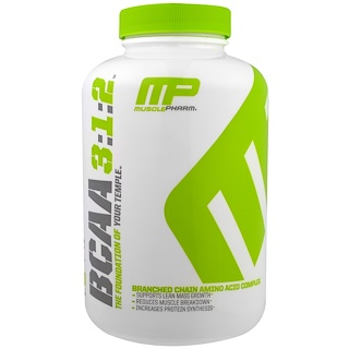 MusclePharm, BCAA 3:1:2, 240 カプセル