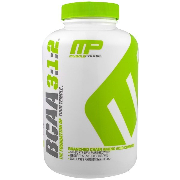 MusclePharm, BCAA 3:1:2, 240 캡슐