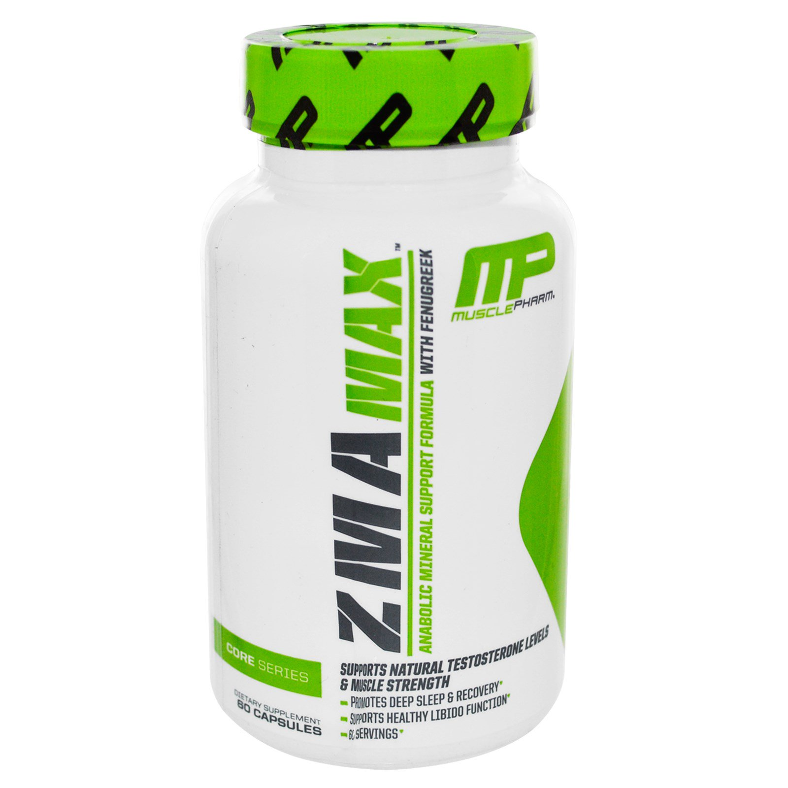 MusclePharm, ZMA Max, Anabolic Mineral Support Formula, 60