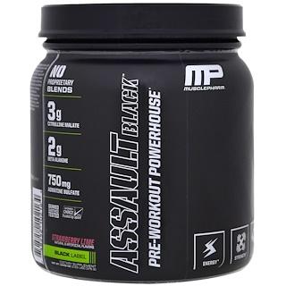 MusclePharm, Assault Black,鍛煉前的能量飲料,草莓酸橙,12.27盎司(348克)