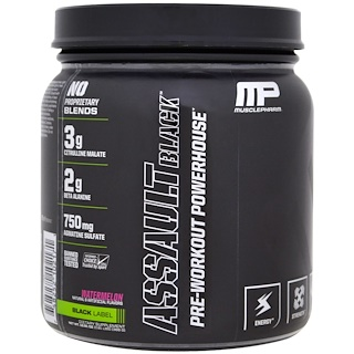 MusclePharm, Assault Black, Pre-Workout Powerhouse, Watermelon, 12.91 oz (366 g)