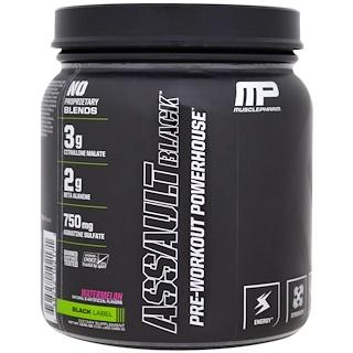 MusclePharm, アサルトブラック、プレワークアウトパワーハウス、スイカ、12.91オンス (366 g)