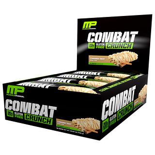 MusclePharm, Combat Crunch, Cinnamon Twist, 12 Bars, 63 g Each
