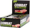 MusclePharm, Combat Crunch, chocolate, frambuesa, 12 barras, 2.22 oz (63 g) cada una