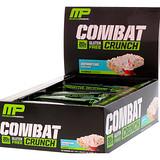 Отзывы о MusclePharm, «Битва», хрустящие белковые батончики со вкусом торта ко дню рождения, 12 батончиков по 2,22 унции (63 г)
