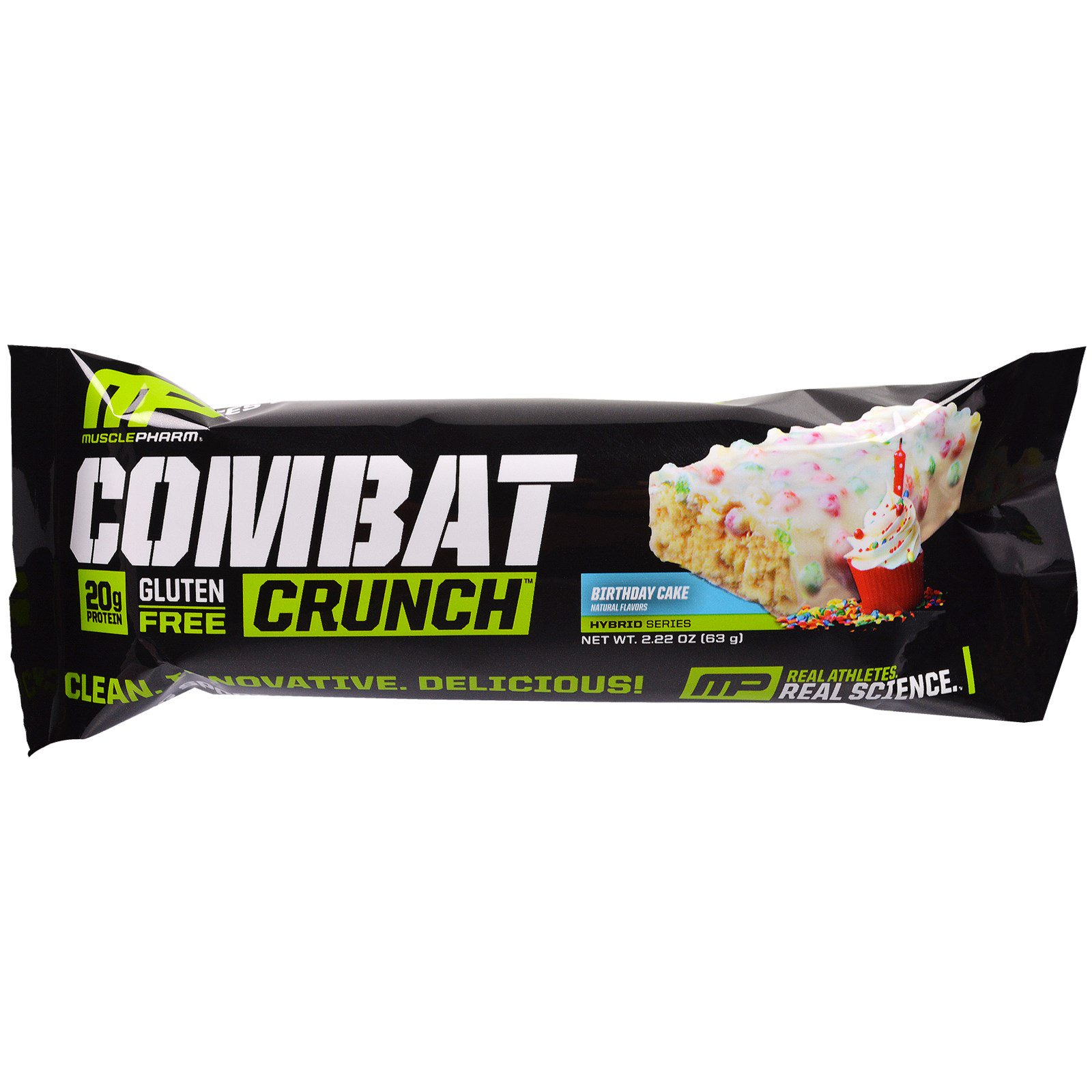 MusclePharm Combat Crunch Birthday Cake 12 Bars 222 Oz 63 G