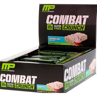 MusclePharm, コンバットクランチ, バースデーケーキ, 12本, 各2.22オンス (63 g)