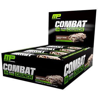 MusclePharm, コンバットクランチ、クッキー&クリーム、12本、各 2.22 オンス (63 g)