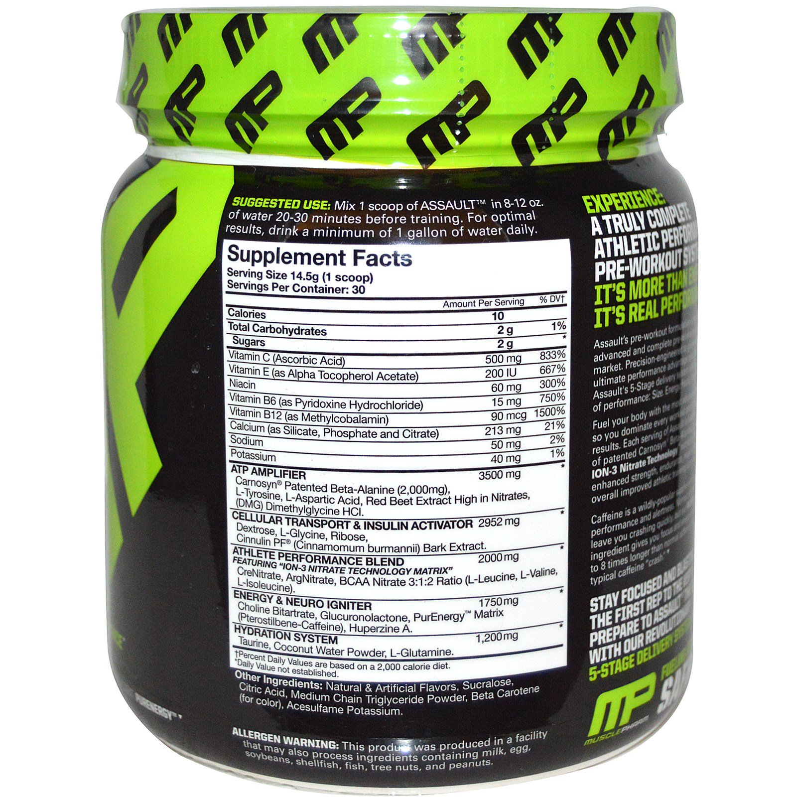 Assault the athletes pre workout system