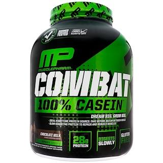 MusclePharm, Combat, 100% Casein, Chocolate Milk, 4 lbs (1814 g)