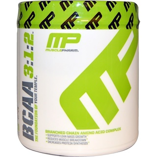 MusclePharm, BCAA 3:1:2, Unflavored Powder, 0.39 lbs (180 g)