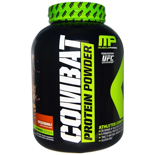 MusclePharm, Combat Protein Powder, Snickerdoodle, 4 lbs (1814 g) (Discontinued Item)
