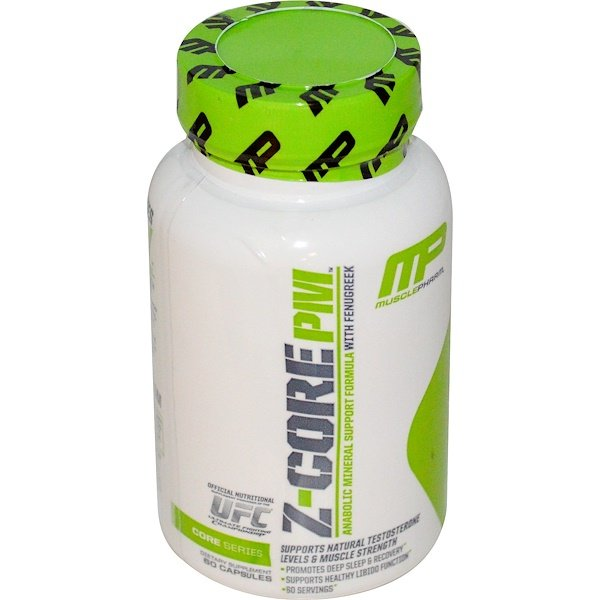 MusclePharm, Z-Core PM, Anabolic Mineral Support Formula, with Fenugreek, 60 Capsules (Discontinued Item)